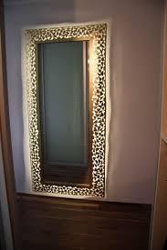 spiegel mit rahmen aus 1 mm stahlblech mit led s