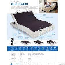 Adjustable Bed Base Split King by Rize Avante Adjustable Bed