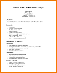 100 Dental Assistant Resume Templates Examples Phen375articlescom