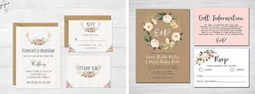 Printable Antlers Wedding Invitation By Darling Paper Company Left