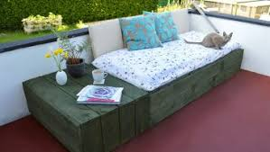 Patio Terrace With The Color Red Carpets And Mattresses Furniture In Brown Above