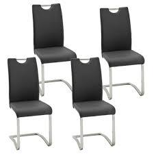 mca furniture schwingstuhl köln mit griff kunstlederbezug farbe schwarz gestell rundrohr freischwinger für küche und esszimmer