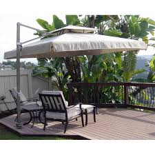 Offset Patio Umbrella W Mosquito Netting by U323 With View Jpg