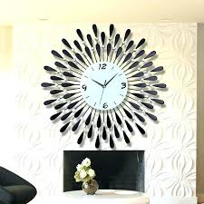 Wall Clock Decoration On The Fireplace View