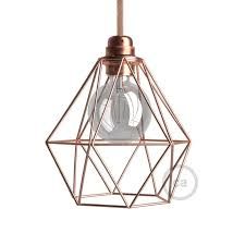 Lampshade Spider Fitting Uk by Light Bulb Cage Lampshade Diamond Copper Finished Metal E27 Fitting