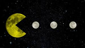 Pac Man Yellow Space Moon Stars Black Retro Games Creative Design Infinity Wallpaper And Background
