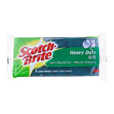 100 Two In One ScotchBrite Heavy Duty In Sponge Pads 0 From RedMart