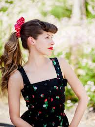 Pin Up Ponytail Tutorial Via Story By ModCloth