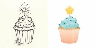 Drawn cupcake birthday cupcake 10