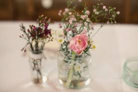 Spring Table Decorations Collected From A Flower Market And Arranged By The Talented Bride