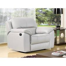 canape relax cuir blanc fauteuil relaxation en cuir blanc giorgina achat vente canapé