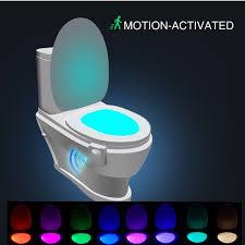 wc nachtlicht led toilette licht le sitz beleuchtung mit lichtsensor bewegungssensor batteriebetriebenes licht toilettenlicht toilettenbeleuchtung
