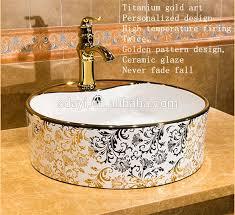 keramik bad luxus farbe gemalt gold waschen becken buy gold waschen gold becken farbe waschbecken product on alibaba