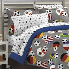 Soccer Themed Bedroom Photography by Amazon Com My Room Soccer Fever Teen Bedding Comforter Set Gray
