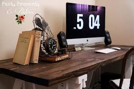 diy simple u0026 sleek rustic desk u2014 by kathi arbiso