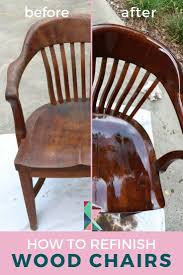 How To Refinish Wood Chairs The Easy Way! | Designertrapped.com
