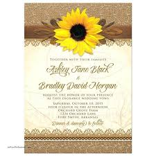 Sunflower Wedding Invitation Invitations Beautiful Rustic Burlap Lace Wood Themed