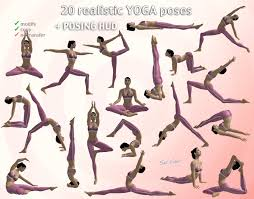 This Is The Half Of Yoga Poses For Beginner Chart You Will Repeat Same Posture In Other Side