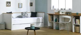 bureau gigogne lit gigogne avec bureau pack blanc et htre 80 200 cm 2