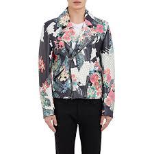 3 1 phillip lim men u0027s floral print moto jacket for men lyst