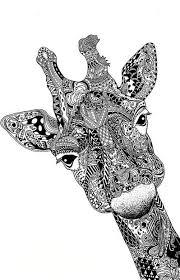 Giraffe Zen Doodle Coloring PagesGiraffe