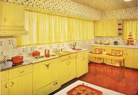 Crazy Yellow 1950s Kitchen