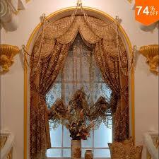 arabischen mine braun trend goldene stickerei ägypten gold vorhänge esszimmer küche zimmer elegante wohnzimmer runde fenster vorhänge