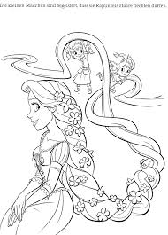 Coloring Princess Pages Tangled Rapunzel Printable Full Size