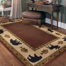Rustic Mountain And Lake Cabin Decor Log Style Rugs Bear Rug