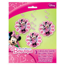 Minnie Mouse Hanging Swirl Decorations Minnie Mouse Danglers