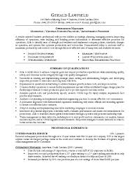 Sample Five Operations Resume Cover Letter Example Manager Examples Management