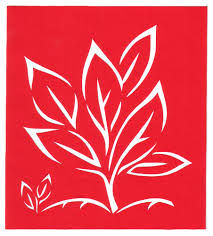 Cut Paper Design Seedling Stencil Border