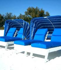 Outdoor Lounge Chairs With Canopy In Water Pool Dream Chair