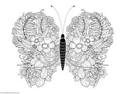 Butterfly Coloring Pages Cute Of Butterflies For Adults