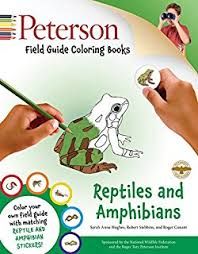 Peterson Field Guide Coloring Books Reptiles And Amphibians Color In