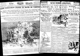 Sinking Of The Uss Maine Newspaper by Political Pranks