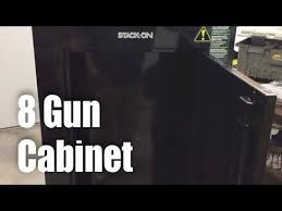 Stack On Tactical Steel Gun Security Cabinet by Stack On Gcb 908 8 Gun Rifle Steel Security Cabinet Review Youtube