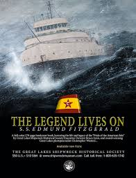 Where Did The Edmund Fitzgerald Sank Map by Great Lakes Book Shelf
