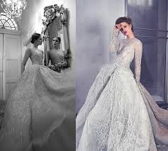 Stunning Crystal Wedding Dresses Gorgeous Appliques See Through Long