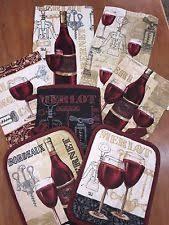 Wine Themed Kitchen Set by Mainstays Towel Sets Ebay