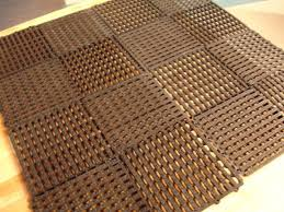 Unique Solutions Rubber Mesh Material Is Flexible With Cheap Outdoor Flooring E