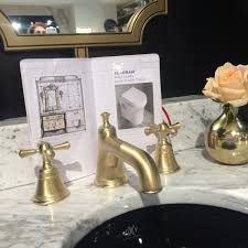 Unlacquered Brass Bathroom Faucet by Dxv Elevates Your Bathroom Jewelry