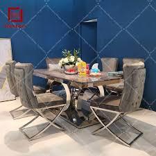 moderne silber rahmen grau samt esszimmer stuhl hoher qualität buy stoff stuhl stoff esszimmer stuhl esszimmer stuhl stoff product on