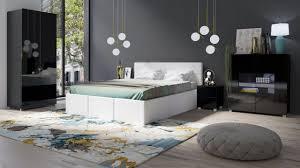 schlafzimmer komplett set 5 tlg labri weiss schwarz hochglanz