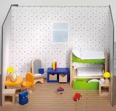 goki puppenhausmöbel kinderzimmer holzfarm holzspielzeug
