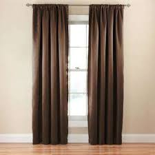 Eclipse Thermapanel Room Darkening Curtain by Espresso Curtains U0026 Drapes Window Treatments The Home Depot