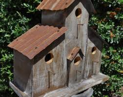 Rustic Ranch Birdhouse Cabin Western Antique Ceiling Tiles Old