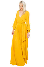 akira black label gone with the wind maxi dress mustard in