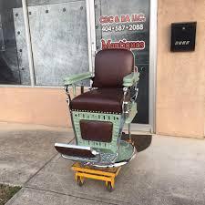 Emil J Paidar Barber Chair Headrest by Antique Barber Chairs Palmer House Barber Chairfront Antique