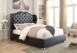 Roma Tufted Wingback Headboard Dimensions comfortable wingback king bed andreas king bed